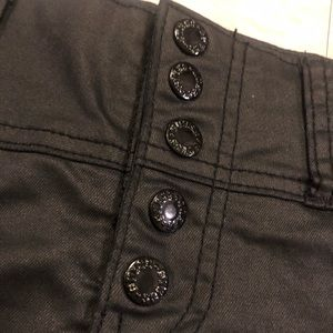 GUESS Coated Black Snap Shorts US Size 28